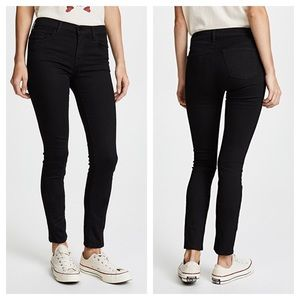 J Brand Jeans Mid Rise Skinny Black 28 Frayed Cuff